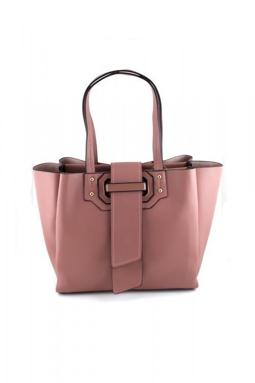 Дамска чанта 2 в 1 в цвят PINK