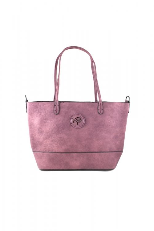 Ежедневна чанта 2 в 1 в лилав цвят
