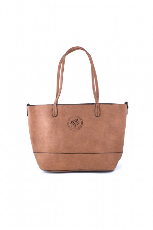Ежедневна чанта 2 в 1 в кафяв цвят