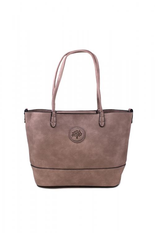 Ежедневна чанта 2 в 1 в цвят пепел от рози