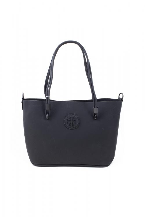 Ежедневна чанта 2 в 1 в черен цвят