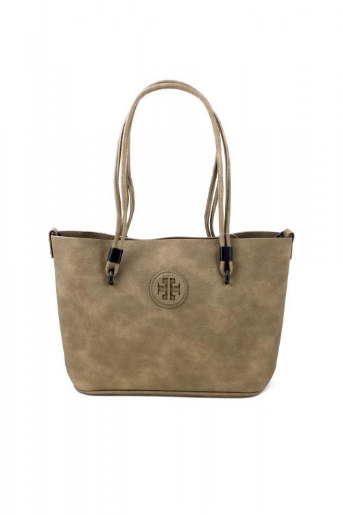 Ежедневна чанта 2 в 1 в бежов цвят