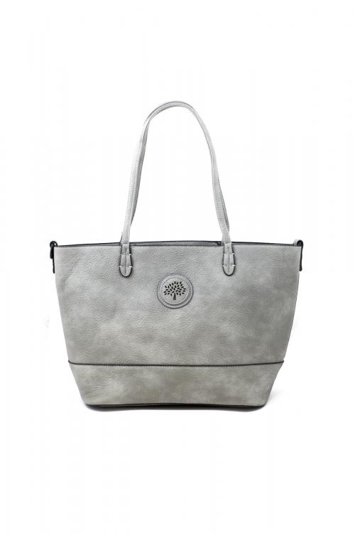 Ежедневна чанта 2 в 1 в светло-сив цвят