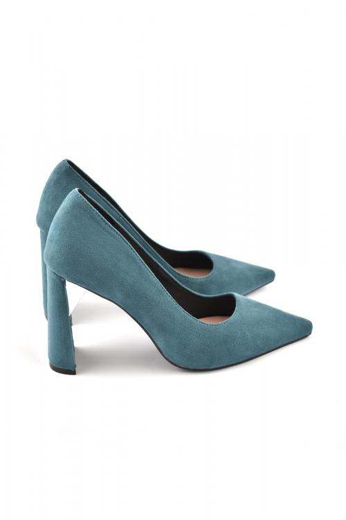 Дамски обувки на висок ток, сини