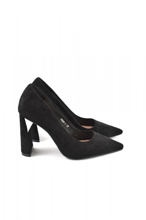Дамски обувки на висок ток, черни